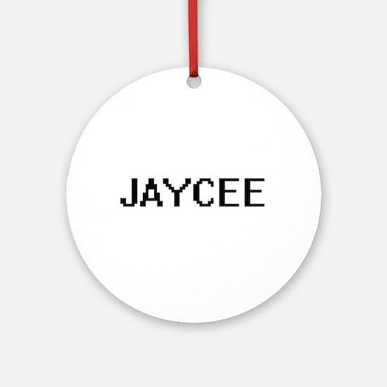 Jaycee Digital Name Ornament (Round)