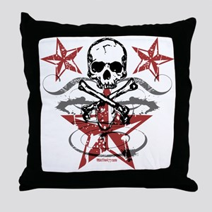 Skull N Star Throw Pillow
