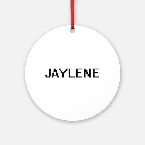 Jaylene Digital Name Ornament (Round)