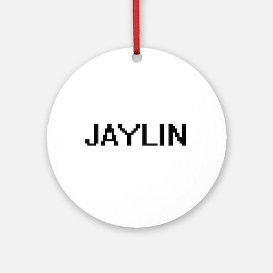 Jaylin Digital Name Ornament (Round)