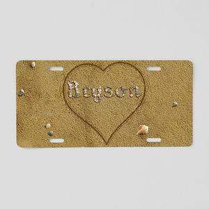 Bryson Beach Love Aluminum License Plate