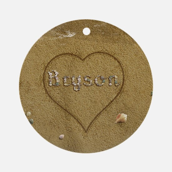 Bryson Beach Love Ornament (Round)