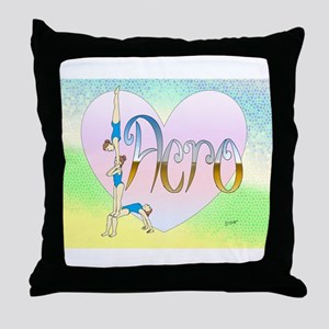 Acro heart Throw Pillow