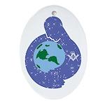 The Freemason embracing the earth Oval Ornament
