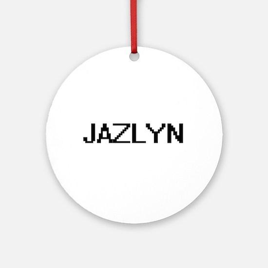 Jazlyn Digital Name Ornament (Round)