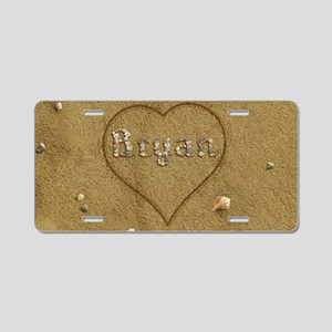Bryan Beach Love Aluminum License Plate