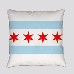 Flag of Chicago Everyday Pillow
