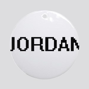 Jordan Digital Name Ornament (Round)