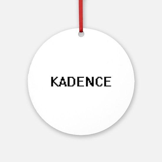 Kadence Digital Name Ornament (Round)