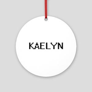 Kaelyn Digital Name Ornament (Round)