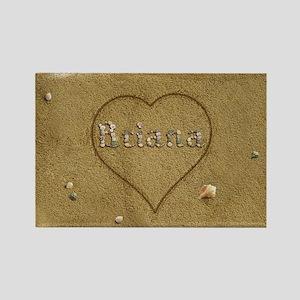 Briana Beach Love Rectangle Magnet