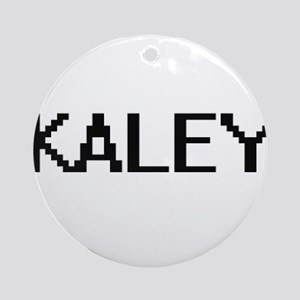 Kaley Digital Name Ornament (Round)