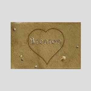 Brenton Beach Love Rectangle Magnet