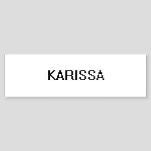 Karissa Digital Name Bumper Sticker