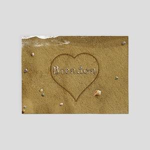 Brendon Beach Love 5'x7'Area Rug