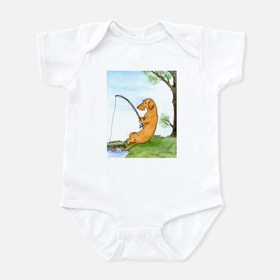 Wirehair Dox Fishing Infant Bodysuit