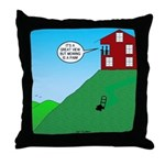 Cliff House Throw Pillow