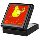 Kid Art Chicks Rule Keepsake Box