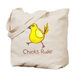 Kid Art Chicks Rule Tote Bag