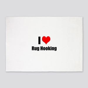 I Heart Rug Hooking 5'x7'Area Rug