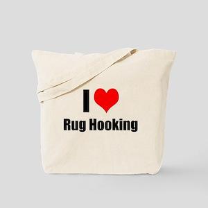 I Heart Rug Hooking Tote Bag
