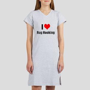 I Heart Rug Hooking Women's Nightshirt