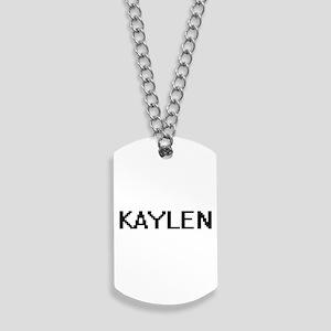 Kaylen Digital Name Dog Tags