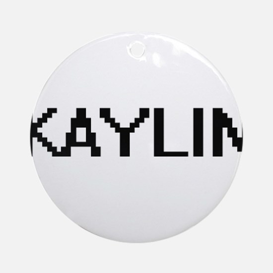 Kaylin Digital Name Ornament (Round)