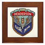 USS HENDERSON Framed Tile