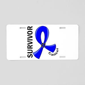 Anal Cancer Survivor 12 Aluminum License Plate