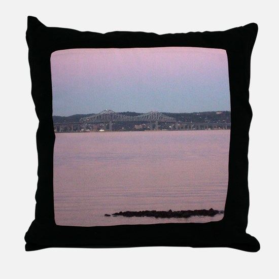 Funny New york state Throw Pillow