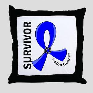 Colon Cancer Survivor 12 Throw Pillow