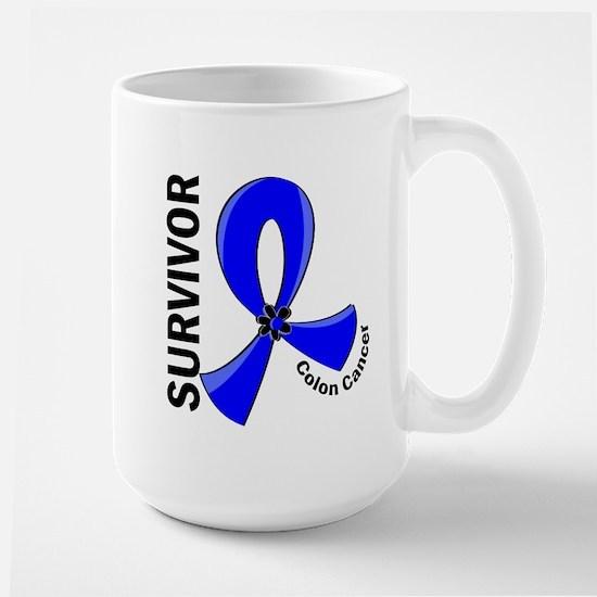 Colon Cancer Survivor 12 Large Mug
