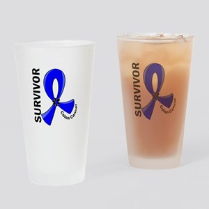 Colon Cancer Survivor 12 Drinking Glass