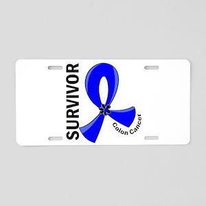 Colon Cancer Survivor 12 Aluminum License Plate
