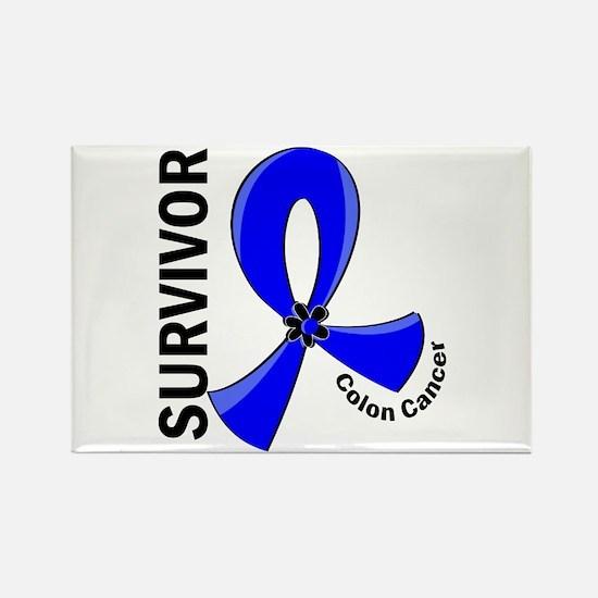 Colon Cancer Survivor 1 Rectangle Magnet (10 pack)
