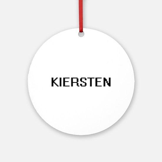 Kiersten Digital Name Ornament (Round)