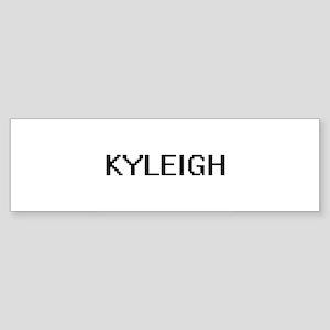 Kyleigh Digital Name Bumper Sticker