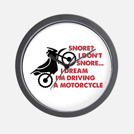 Snore motorcycle Wall Clock