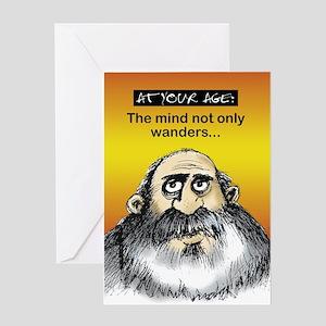 Mind wanders - Greeting Card