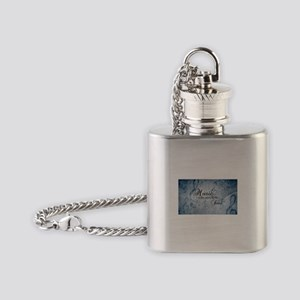 Music voice of the soul Flask Necklace