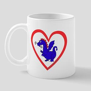 Heart Dragon Mug