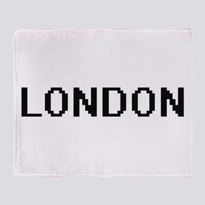 London Digital Name Throw Blanket