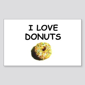 i love donuts Rectangle Sticker