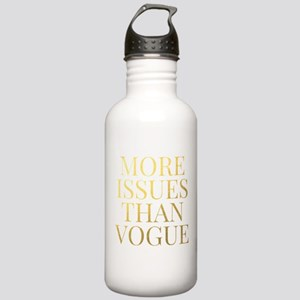 More Issues Than Vogue - Faux Gold Foil Water Bott