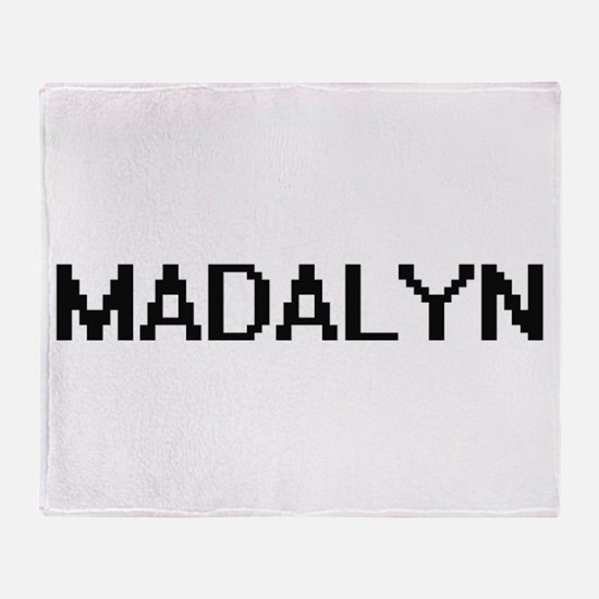 Madalyn Digital Name Throw Blanket