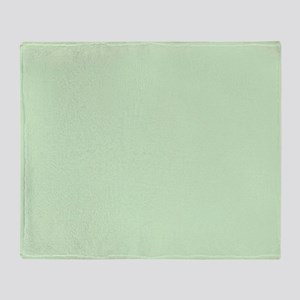 Solid Mint Green Throw Blanket