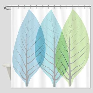 Leaf Art Translucent Shower Curtain