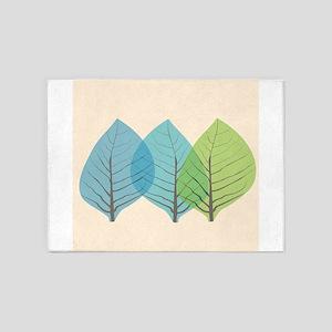 Leaf Art Translucent 5'x7'Area Rug