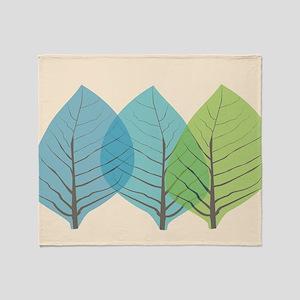 Leaf Art Translucent Throw Blanket